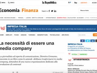 Repubblica Affari&Finanza su L'Azienda Media Company