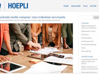 L'evoluzione necessaria dell'azienda in media company su Comm di Hoepli
